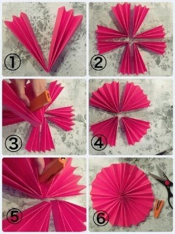 como hacer guirnaldas redondas de cartulina
