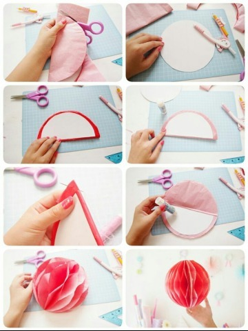 como hacer guirnaldas redondas paso a paso