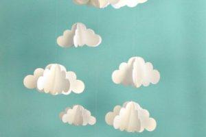 Como hacer nubes de papel para decorar tu hogar o tu fiesta