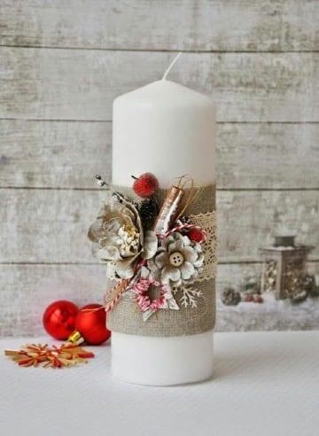 como hacer velas navideñas faciles