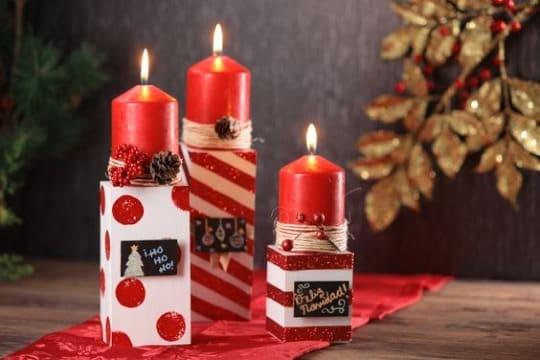 fotos de como hacer velas navideñas