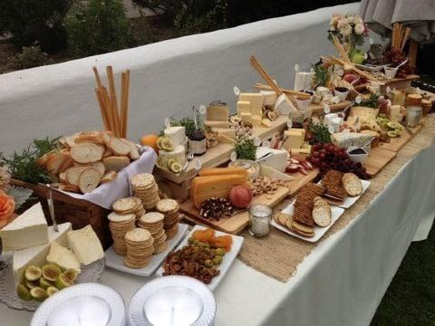 fotos de mesas de quesos para bodas