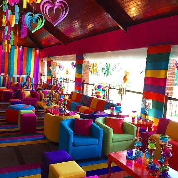fotos decoracion de colores para fiestas