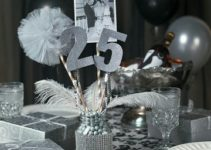 Bellos centros de mesa para bodas de plata fáciles de hacer
