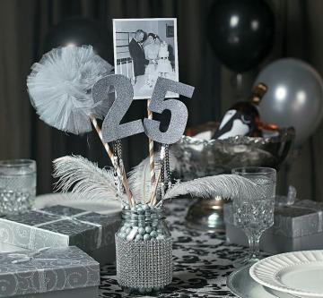 ideas de centros de mesa para bodas de plata