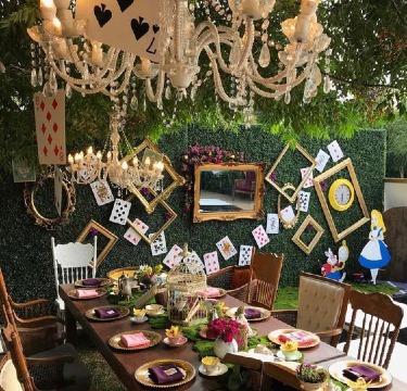 ideas de decoracion para xv años en jardin