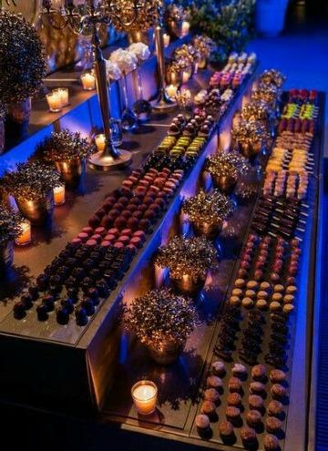 ideas de mesas de dulces para bodas elegantes