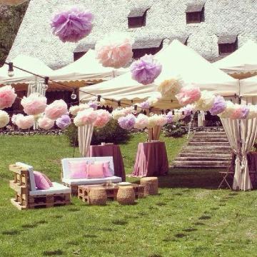 Variados estilos de decoracion para xv a os en jardin - Jardines decorados para fiestas ...