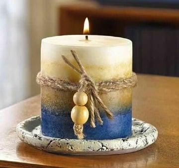 imagenes de como decorar velas artesanales