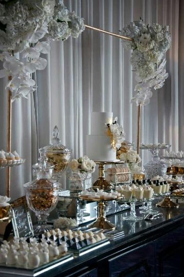 imagenes de mesas de dulces para bodas elegantes