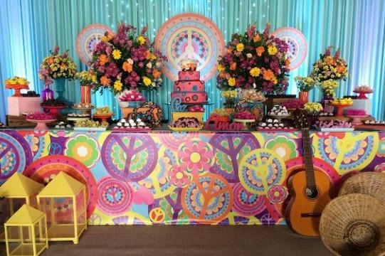 imagenes decoracion de colores para fiestas