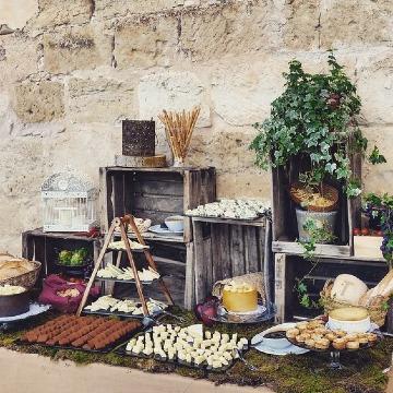 mesas de quesos para bodas estilo rustico