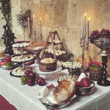 mesas de quesos para bodas vintage