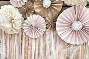 Creativas ideas para decorar con rosetones de papel de seda