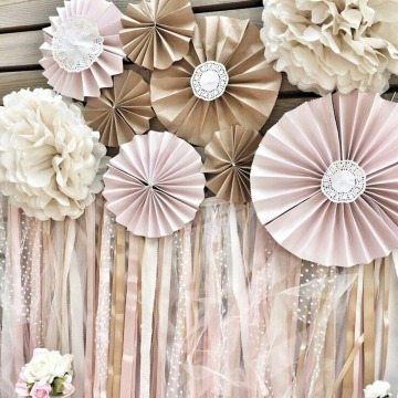 rosetones de papel de seda decorativos