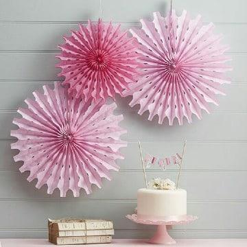 rosetones de papel de seda para decorar