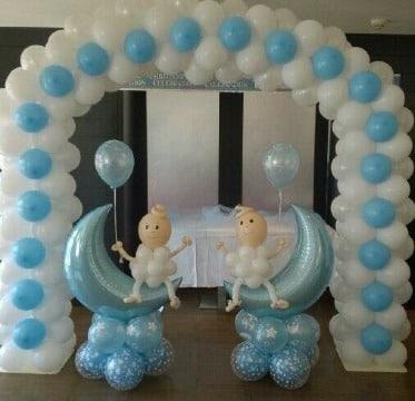 arco de globos para baby shower niño