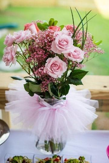 arreglos florales para baby shower de niña