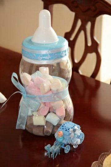 biberones para baby shower niño