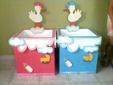 como hacer cajas para baby shower