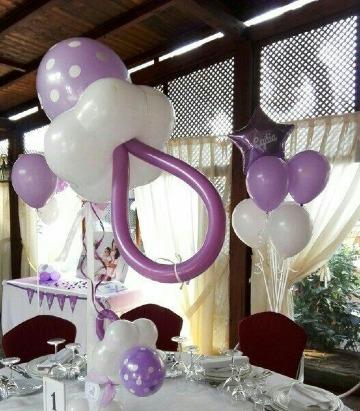 como hacer chupones con globos centros de mesa
