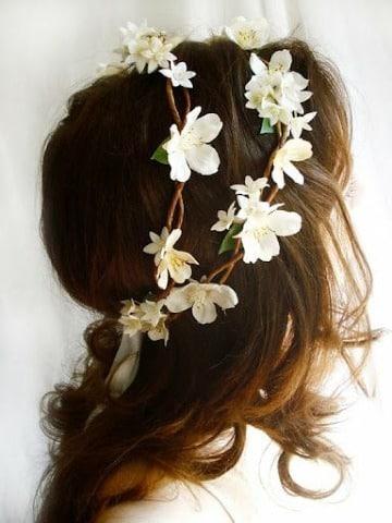 coronas de flores para el cabello como hacer