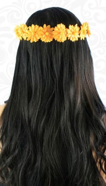 coronas de flores para el cabello faciles