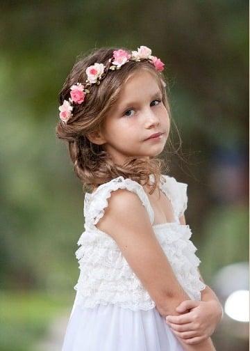 coronas de flores para el cabello para niña