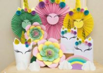 Adornos para fiesta de niña en rosa y combinación de colores