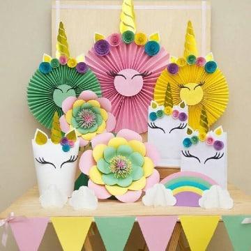 decoracion con adornos para fiesta de niña
