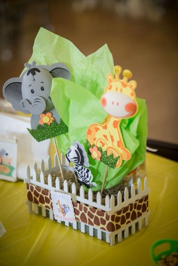 decoracion de animalitos para baby shower