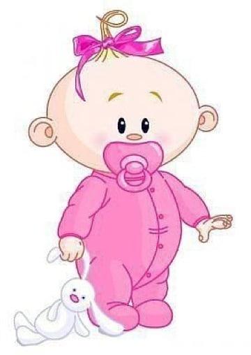 dibujos de bebes para baby shower de niña