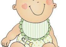 Adorables dibujos de bebes para baby shower para decorar