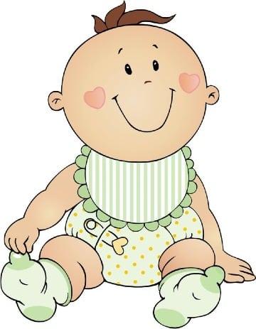 dibujos de bebes para baby shower niño