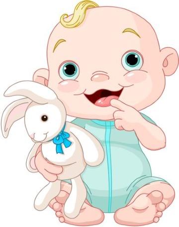 dibujos de bebes para baby shower para imprimir