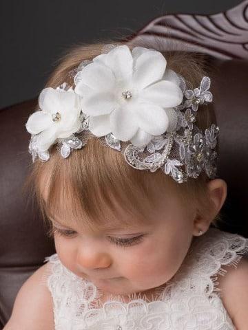 diseños de diademas de flores para bebes