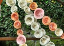 Guirnaldas de flores de papel para embellecer tu ambiente