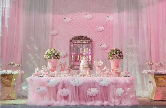 ideas de arreglos de salon para baby shower
