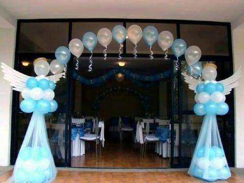 modelos de arco de globos para baby shower