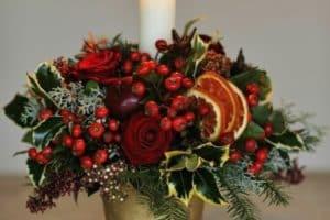 Minimalistas arreglos florales de navidad 2018