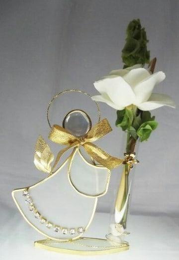 centros de mesa de angelitos con flores
