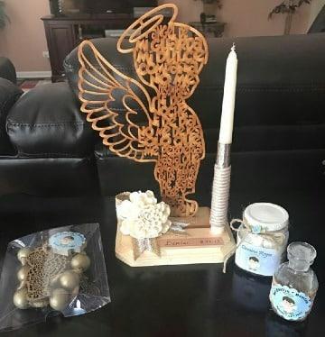 centros de mesa de angelitos primera comunion
