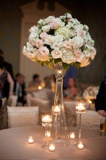 centros de mesa de cristal para bodas
