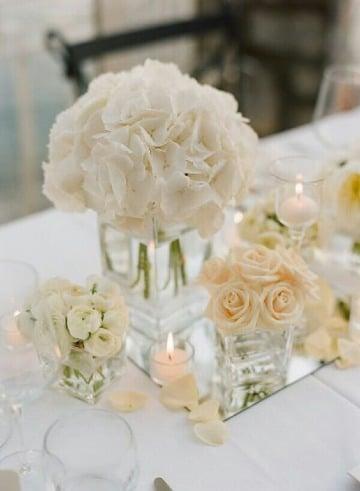 centros de mesa de cristal sencillos