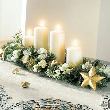 centros de mesa navideños con velas economico