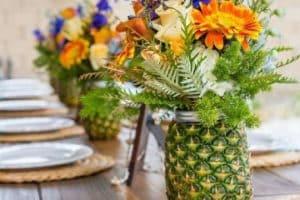 Geniales diseños en centros de mesa para fiestas del 2018