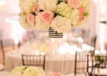 Elegantes adornos y centros de mesa de cristal para 1 boda