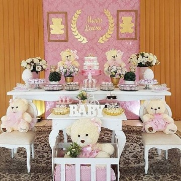 como decorar mesa de postres baby shower