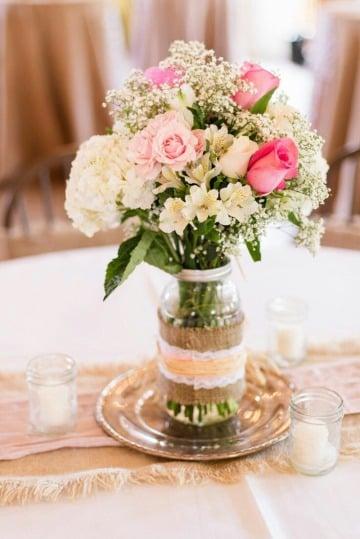 como hacer floreros para centro de mesa