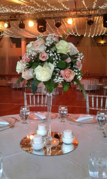floreros para centro de mesa 15 años